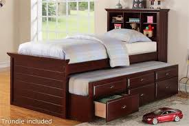 twin bed with drawers and bookcase headboard cherry twin bed with bookcase headboard and trundle storage