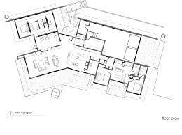 modern architecture house floor plans main floor plan river bank house montana by balance associates