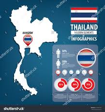 Asia World Map by Thailand Flag Asia World Map Vector Stock Vector 215925223
