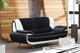 canapé design noir et blanc deco in canape 3 places design noir et blanc marita marita 3