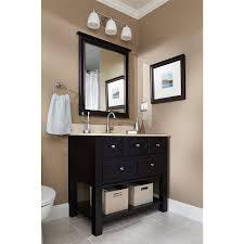lowes bathroom vanity and sink shop allen roth hagen 36 in x 21 in espresso undermount single
