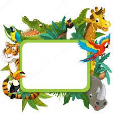 safari cartoon cartoon safari frame border stock photo agaes8080 28314283