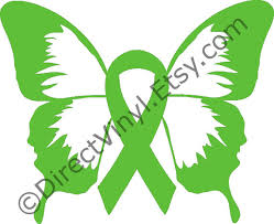 cerebral palsy ribbon green awareness ribbon butterfly window decal cerebral palsy