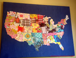License Plate Usa Map by How To Make A Fabric Usa Map Fabrics Fabric Remnants And Craft