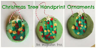 salt dough handprint christmas tree ornaments the imagination tree
