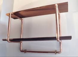 Wood Shelving Units by Copper Pipe Reclaimed Wood Shelving With Coat Hooks