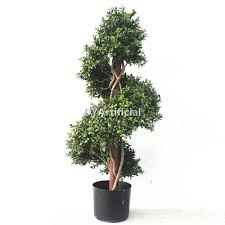 180cm artificial buxus spiral topiary tree uv protection steel stem