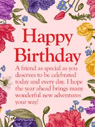 to my special friend happy birthday wishes card beautiful