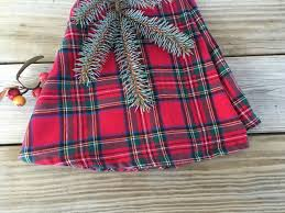 plaid tree skirt reserved for emily christmas tree skirt tartan christmas tree