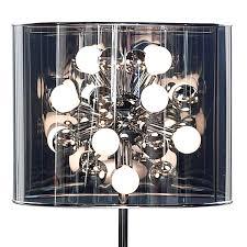 Adesso Floor Lamps Starburst Lamp With Drum Shade Floor Lamps Retroplanet Com