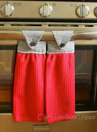 kitchen towel craft ideas how to make hanging kitchen towels plus 6 other handmade gift