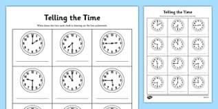time primary resources clock o u0027clock half past page 3