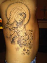 virgin mother mary tattoo