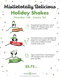 She Shack by Holiday Shakes Have Arrived At Shake Shack U2013 Left At The Fork