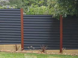 garden feature wall ideas sheet metal fence panels corrugated