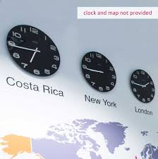 clock city name office wall stickers vinyl impression clock city names in by vinyl impression