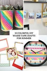 10 diy colorful washi tape crafts for summer shelterness