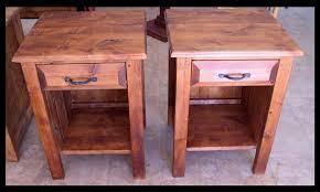western rustic nightstands
