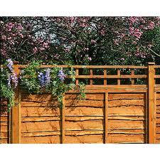 4 Ft Fence Panels With Trellis Garden Trellis U0026 Screenings Fencing Wickes