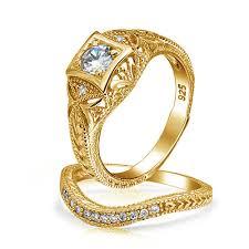 vintage weddings rings images Wedding ring sets for her cz sterling silver engagement ring sets jpg