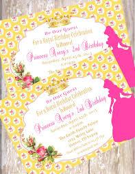beauty and the beast birthday invitations pdf jpeg disney