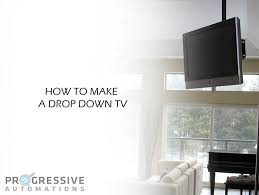 Drop Down Tv From Ceiling by How To Make A Drop Down Tv Professionals In Linear Motion
