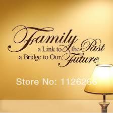 online get cheap spiritual wall decor aliexpress com alibaba group family a bridge to our future vinyl wall stickers art home room decor spiritual quotes wall