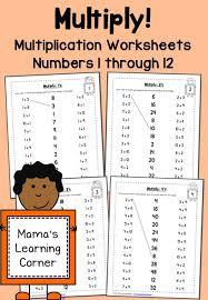 best 25 multiplication facts worksheets ideas on pinterest