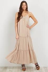 chiffon maxi dress taupe tiered chiffon maternity maxi dress