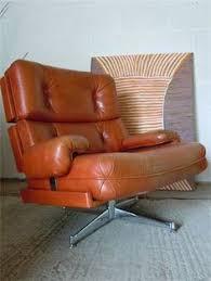 Orange Leather Swivel Chair Vintage Westnofa Lounge Chair Jaren 70 Stoel Ontworpen Door