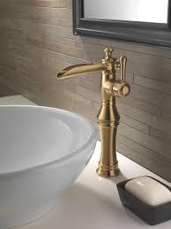 delta 798lf chrome cassidy single hole waterfall bathroom faucet