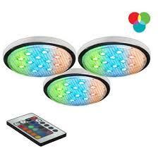 rgb led puck lights upc 773270010337 bazz lighting led103rb rgb under cabinet led