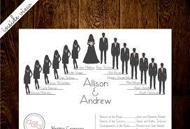 cool wedding programs silhouette wedding program