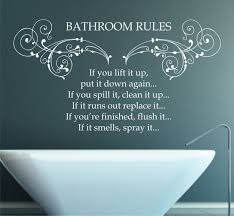 Home Decor Rules Zspmed Of Bathroom Rules Wall Art Nice With Additional Small Home
