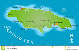Map Of Kingston Jamaica Map Of Jamaica Stock Images Image 10555544