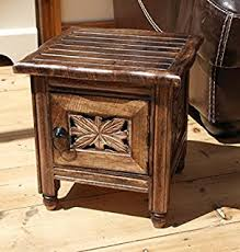 ethnic java hand carved coffee table stool with primitive man