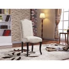 Damask Chair Gorgeous Flare Damask Pattern Parson Dining Chairs With Nailhead