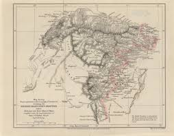 Frontier Route Map by Maps From The Journal Of The Royal Geographical Society Of London