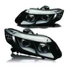 honda civic headlight 2012 2013 honda civic black housing projector headlights