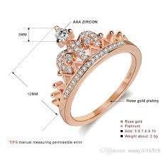 pretty rings images 2018 new pretty crown rose gold silver women rings lady luxury jpg