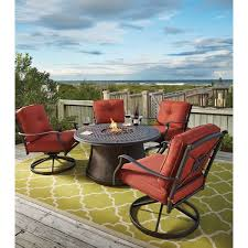 Patio Table With Firepit by Darby Home Co Hanson 5 Piece Dining Set With Firepit U0026 Reviews
