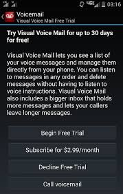 visual voicemail for android is visual voicemail free a list of companies that charge