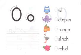 alphabet capital and small letter o o worksheet for kids