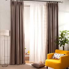 Linen Drapery Panels Coffee Solid Cotton Linen Curtain Panels Eco Friendly