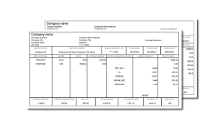 Paystub Template Excel How To A Pay Stub Free 3 Of 5 Detailed And Easy