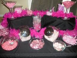 Pink And White Candy Buffet by Pink U0026 Black Candy Buffet My Parties Pinterest Pink Pink