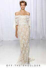 the shoulder wedding dress fall 2017 wedding dress trends brides