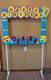 photo booth diy diy emoji photo booth frame party decorations all custom work