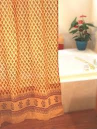 Saffron Curtains Orange Shower Curtain Orange Shower Curtains Fabric Curtains
