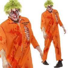 halloween inmate costume halloween zombie fancy dress mens ladies womens zombies walking